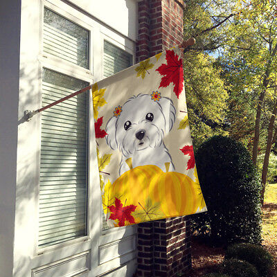 Carolines Treasures  BB2014CHF Maltese Thanksgiving Flag Canvas House Size