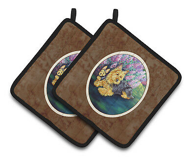 Carolines Treasures  7209PTHD Australian Terrier and Puppy Pair of Pot Holders
