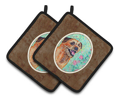 Carolines Treasures  7228PTHD Border Terrier Pair of Pot Holders