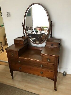 Antique Edwardian dressing table with mirror