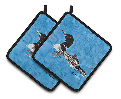 Carolines Treasures  8718PTHD Momma and Baby Loon Pair of Pot Holders