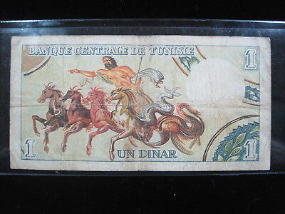 Tunisia 1 Dinar 1965 P63 Tunisie Africa 60# Bank Currency Banknote Paper Money