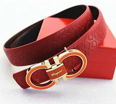 Ferragamo Adjustable Belt Red Women Men Free Shipping