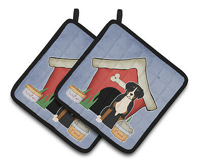 Dog House Collection Greater Swiss Mountain Dog Pair of Pot Holders