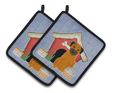 Dog House Collection Border Terrier Pair of Pot Holders