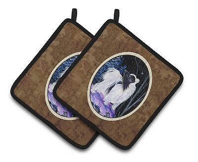 Carolines Treasures  SS8383PTHD Starry Night Papillon Pair of Pot Holders
