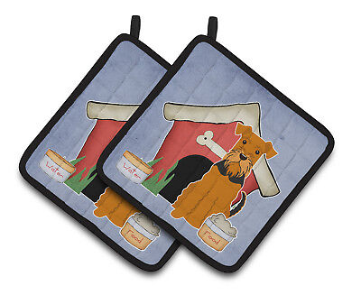 Dog House Collection Airedale Pair of Pot Holders