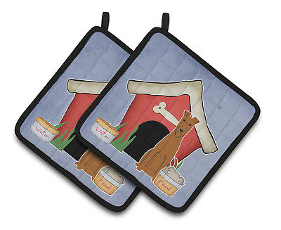 Dog House Collection Irish Terrier Pair of Pot Holders