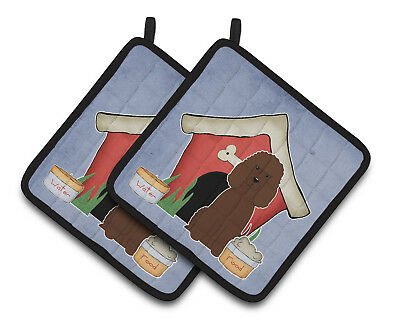 Dog House Collection Irish Water Spaniel Pair of Pot Holders