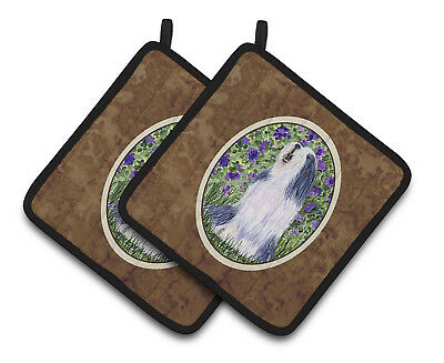 Carolines Treasures  SS8602PTHD Bearded Collie Pair of Pot Holders