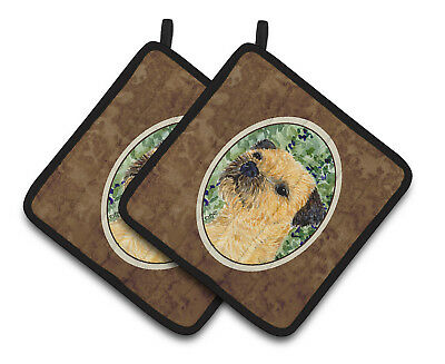 Carolines Treasures  SS8801PTHD Border Terrier Pair of Pot Holders