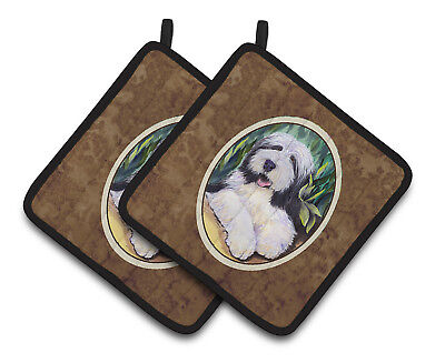 Carolines Treasures  SS1038PTHD Bearded Collie Pair of Pot Holders