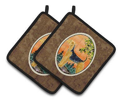 Carolines Treasures  SS8850PTHD Airedale Pair of Pot Holders
