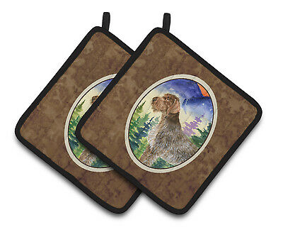 Carolines Treasures  SS8226PTHD German Wirehaired Pointer Pair of Pot Holders
