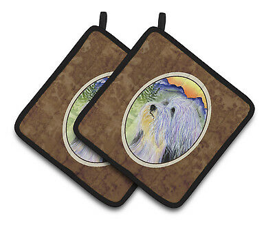 Carolines Treasures  SS8244PTHD Bearded Collie Pair of Pot Holders