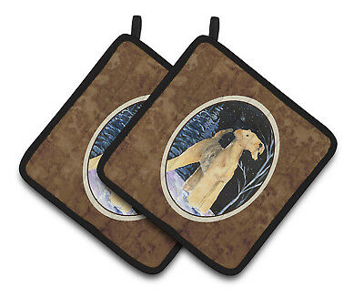 Carolines Treasures  SS8361PTHD Starry Night Airedale Pair of Pot Holders