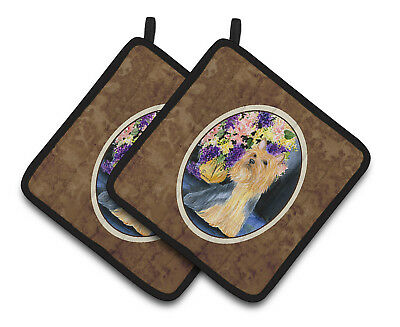 Carolines Treasures  SS8293PTHD Silky Terrier Pair of Pot Holders