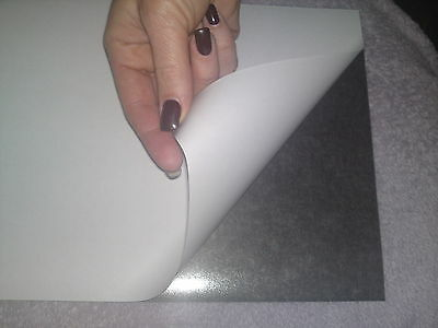 SELF ADHESIVE FLEXIBLE STICKY BACK MAGNETIC SHEET  0.85mm thick A4