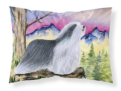 Carolines Treasures  SS8338PILLOWCASE Bearded Collie Moisture wicking Fabric sta