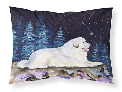 Starry Night Great Pyrenees Moisture wicking Fabric standard pillowcase