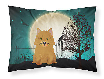 Halloween Scary Norwich Terrier Fabric Standard Pillowcase