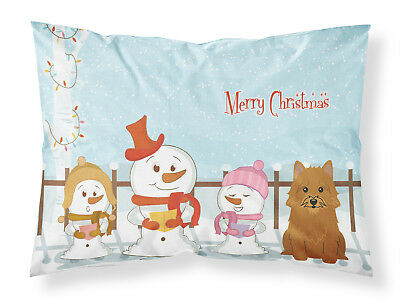 Merry Christmas Carolers Norwich Terrier Fabric Standard Pillowcase
