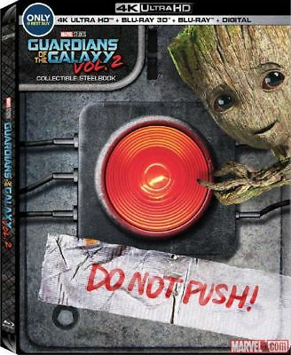 Guardians of the Galaxy Vol. 2 - Ltd. Ed. Steelbook [Blu-ray + 4k UHD + 3D] New!