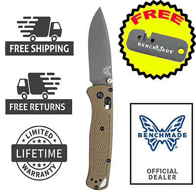 Benchmade Knives Bugout Folding Camping Pocket Knife 535GRY with FREE Sharpener
