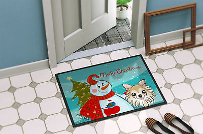 Snowman with Chihuahua Indoor or Outdoor Mat 18x27