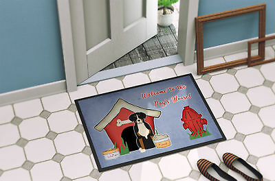Dog House Collection Greater Swiss Mountain Dog Indoor or Outdoor Mat 18x27