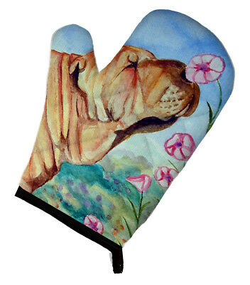 Carolines Treasures  7105OVMT Shar Pei Smell the flowers Oven Mitt