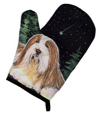 Carolines Treasures  SS8529OVMT Starry Night Bearded Collie Oven Mitt