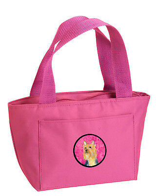 Carolines Treasures  LH9361PK-8808 Pink Silky Terrier  Lunch Bag or Doggie Bag L