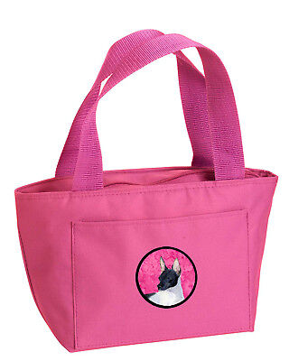 Carolines Treasures  SS4756-PK-8808 Pink Rat Terrier  Lunch Bag or Doggie Bag SS