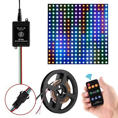 6.6ft 5050 RGB 60 LED Programmable LED Strip with RF Remote Controller DC 12V US