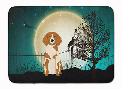 Halloween Scary Brittany Spaniel Machine Washable Memory Foam Mat