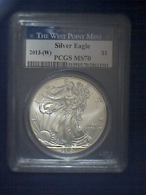 "2013(W) PCGS MS70 ""Struck at the West Point Mint"" Silver Eagle"