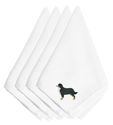 Bernese Mountain Dog Embroidered Napkins Set of 4