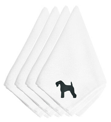 Carolines Treasures  BB3392NPKE Kerry Blue Terrier Embroidered Napkins Set of 4