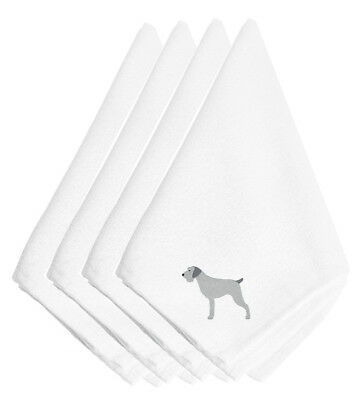 German Wirehaired Pointer Embroidered Napkins Set of 4