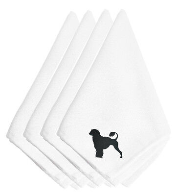 Portuguese Water Dog Embroidered Napkins Set of 4