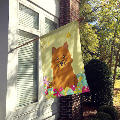 Easter Eggs Norwich Terrier Flag Canvas House Size