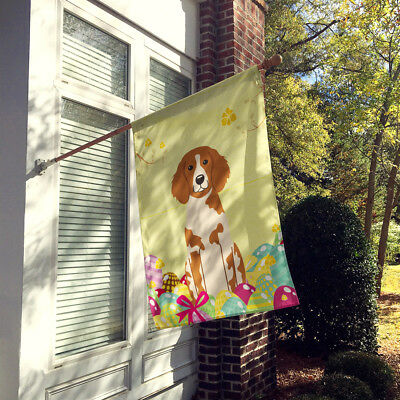 Easter Eggs Brittany Spaniel Flag Canvas House Size