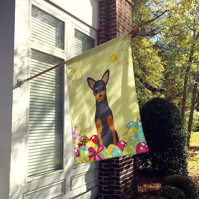 Easter Eggs Manchester Terrier Flag Canvas House Size