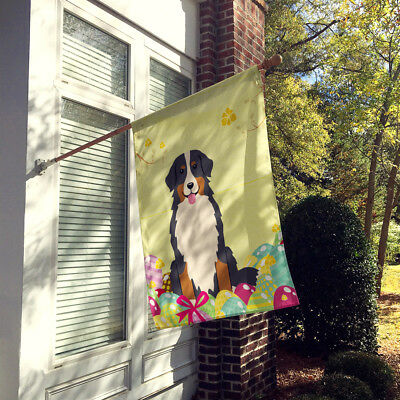 Easter Eggs Bernese Mountain Dog Flag Canvas House Size