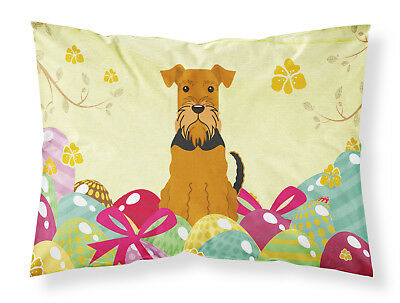 Easter Eggs Airedale Fabric Standard Pillowcase