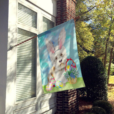 Dandie Dinmont Easter Bunny Flag Canvas House Size