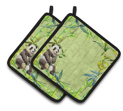 Carolines Treasures  CK1696PTHD Panda Bear and Bamboo Pair of Pot Holders