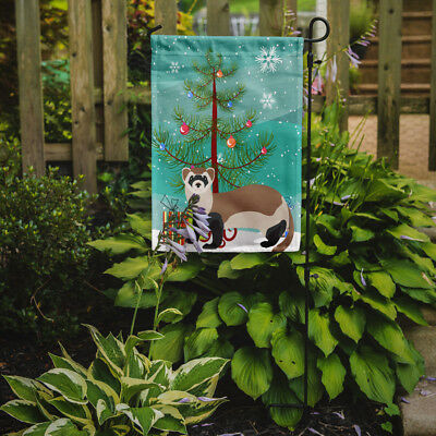 Carolines Treasures  BB9245GF Ferret Christmas Flag Garden Size