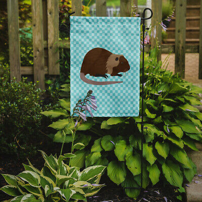 Carolines Treasures  BB8053GF Coypu Nutria River Rat Blue Check Flag Garden Size